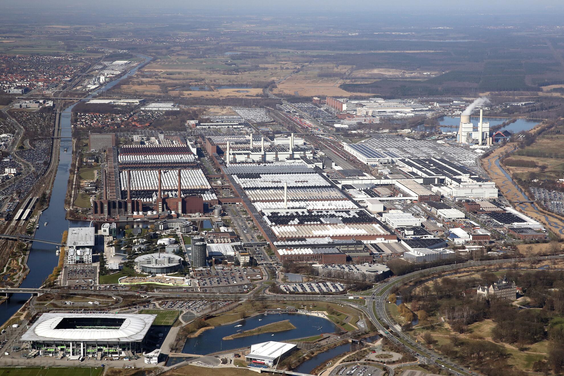 Volkswagen Werk Wolfsburg 2013 Luftaufnahme