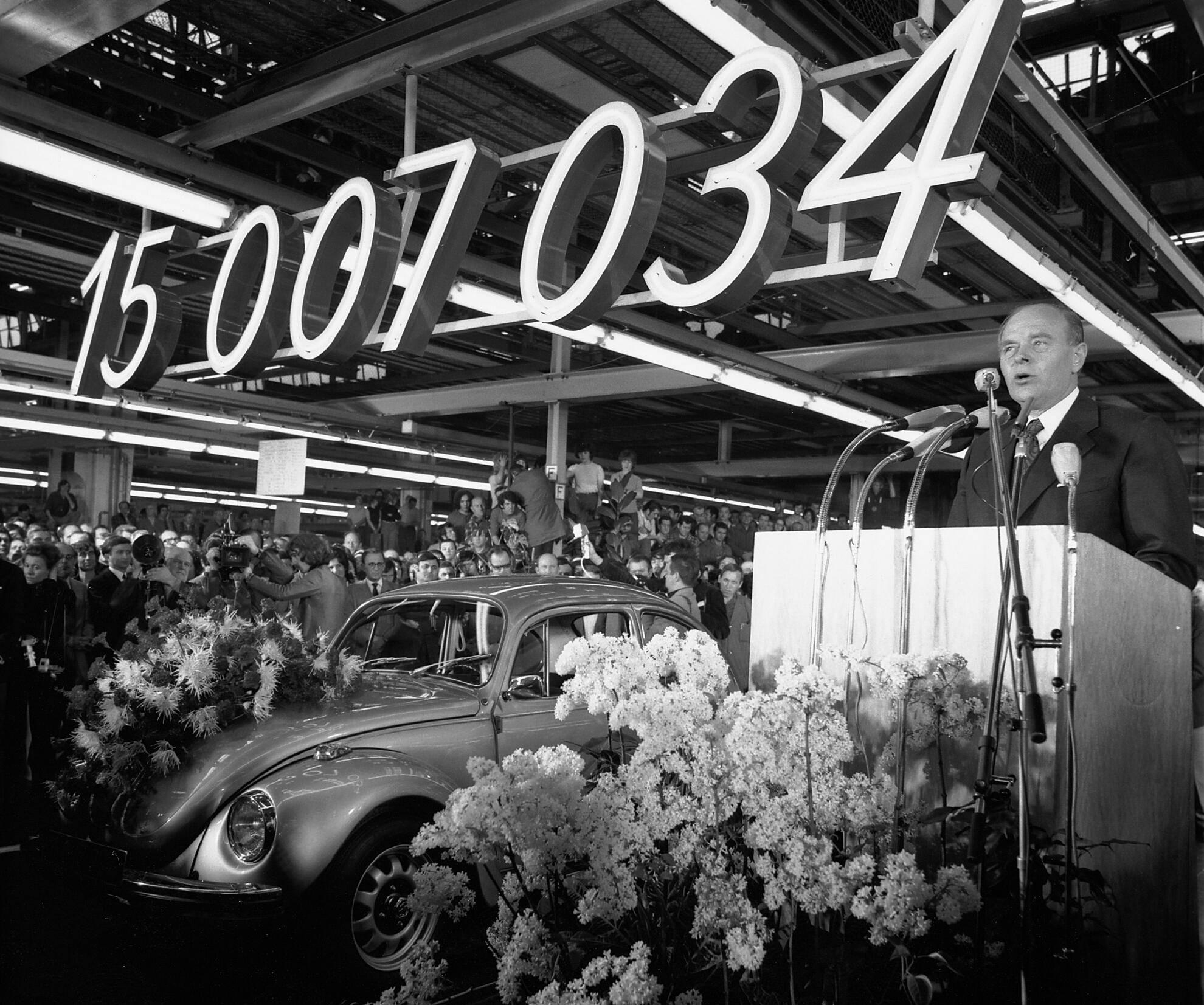 1972,  VW Käer: 15.007.034 gebaute Exemplare