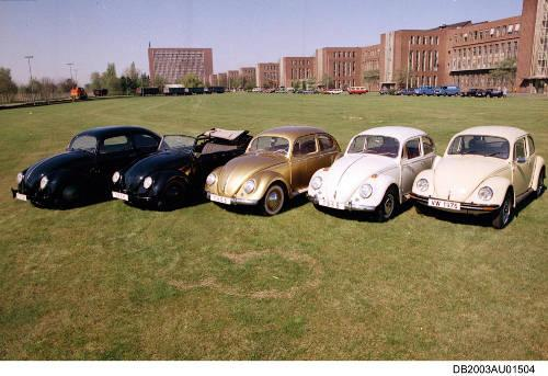 VW Kaefer Generationen 1936-1976