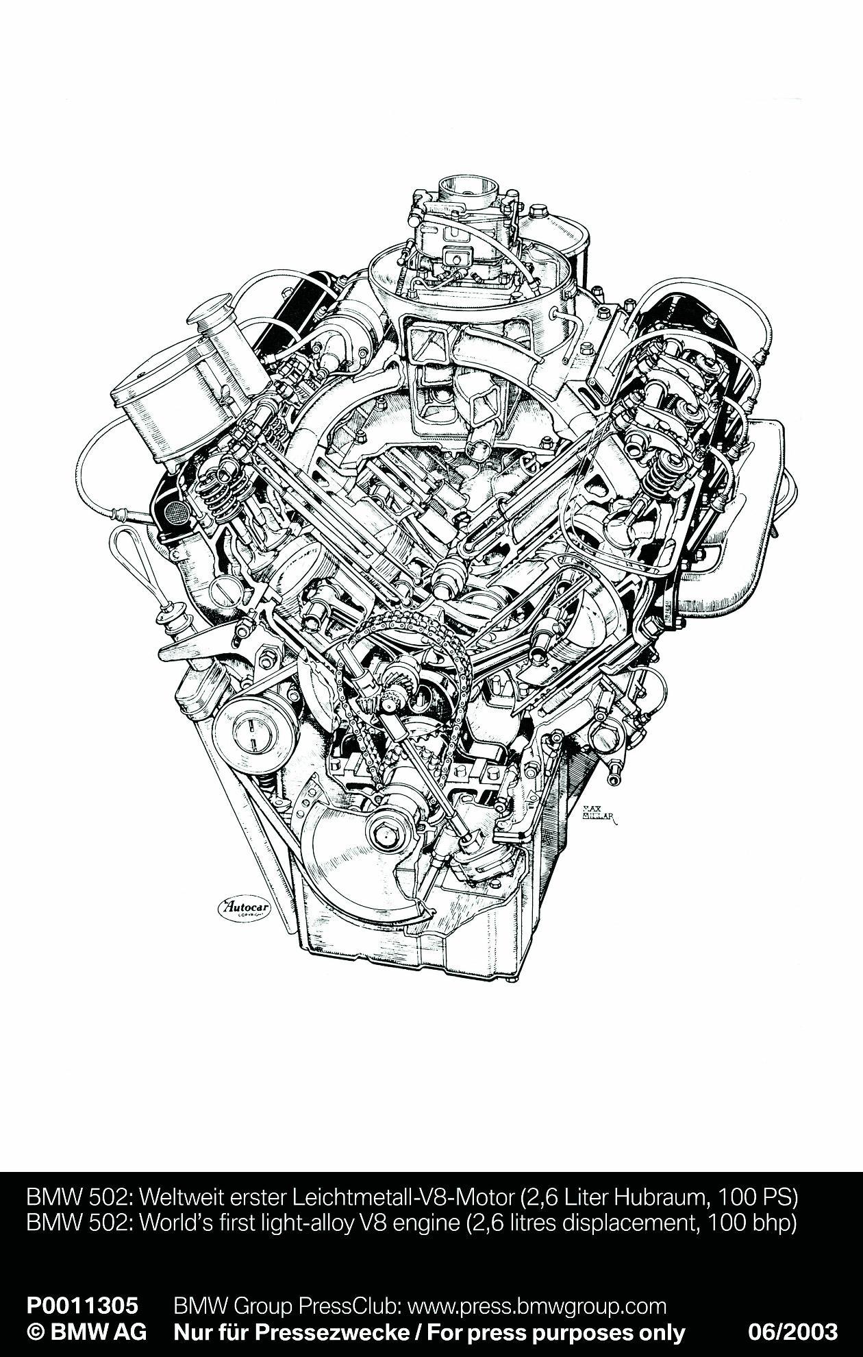 1952 bj bmw 502 v8 502 motoring