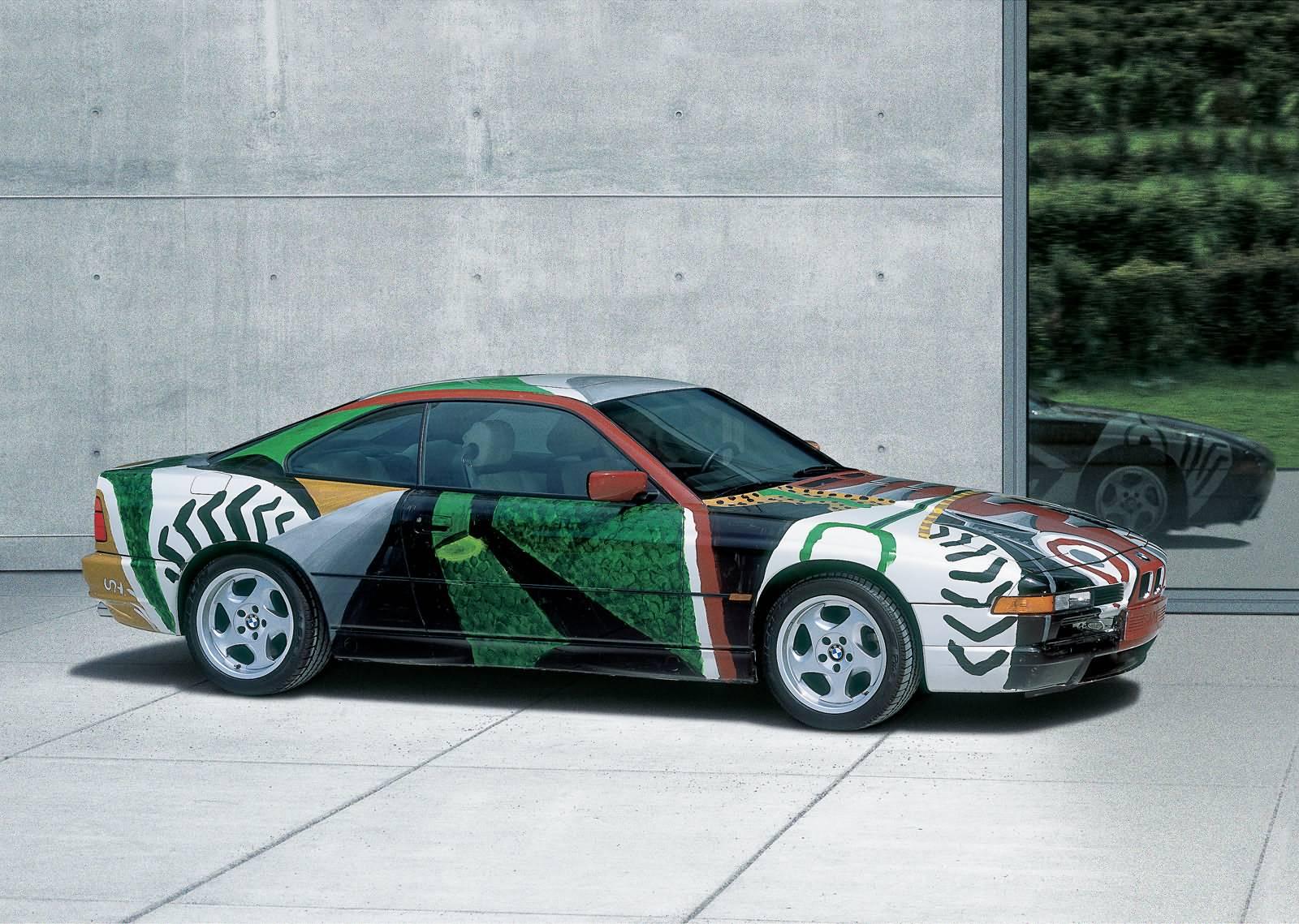 Hockney`s Kunstwerk ein BMW 850 CSi