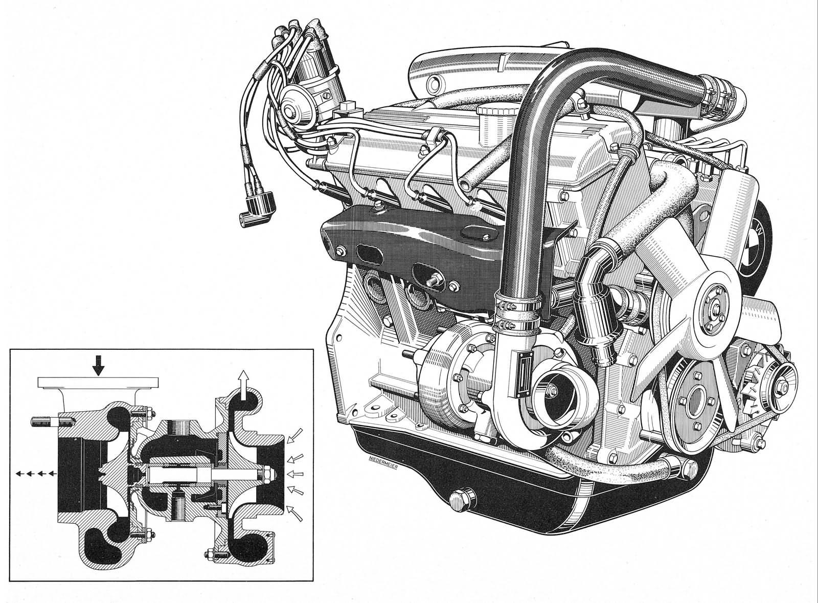 Turbo-Motor vom BMW 2002 turbo