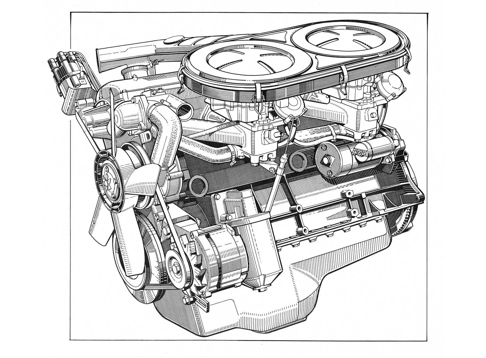 1968 - BMW 2500 Motor, berühmt für seinen Turbinenartigen Lauf