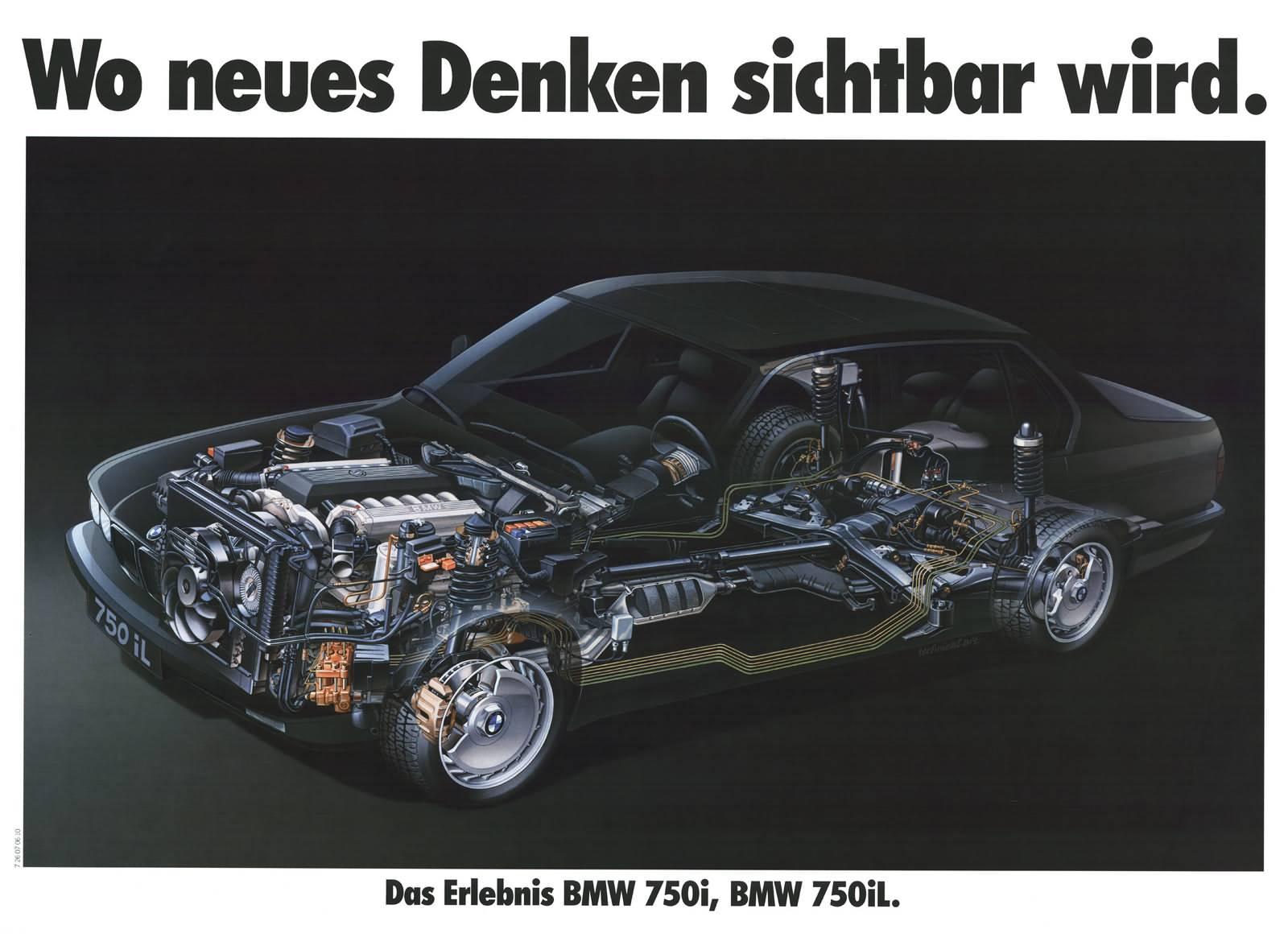 BMW 750i, erster Zwölfzylinder in der Nachkriegszeit