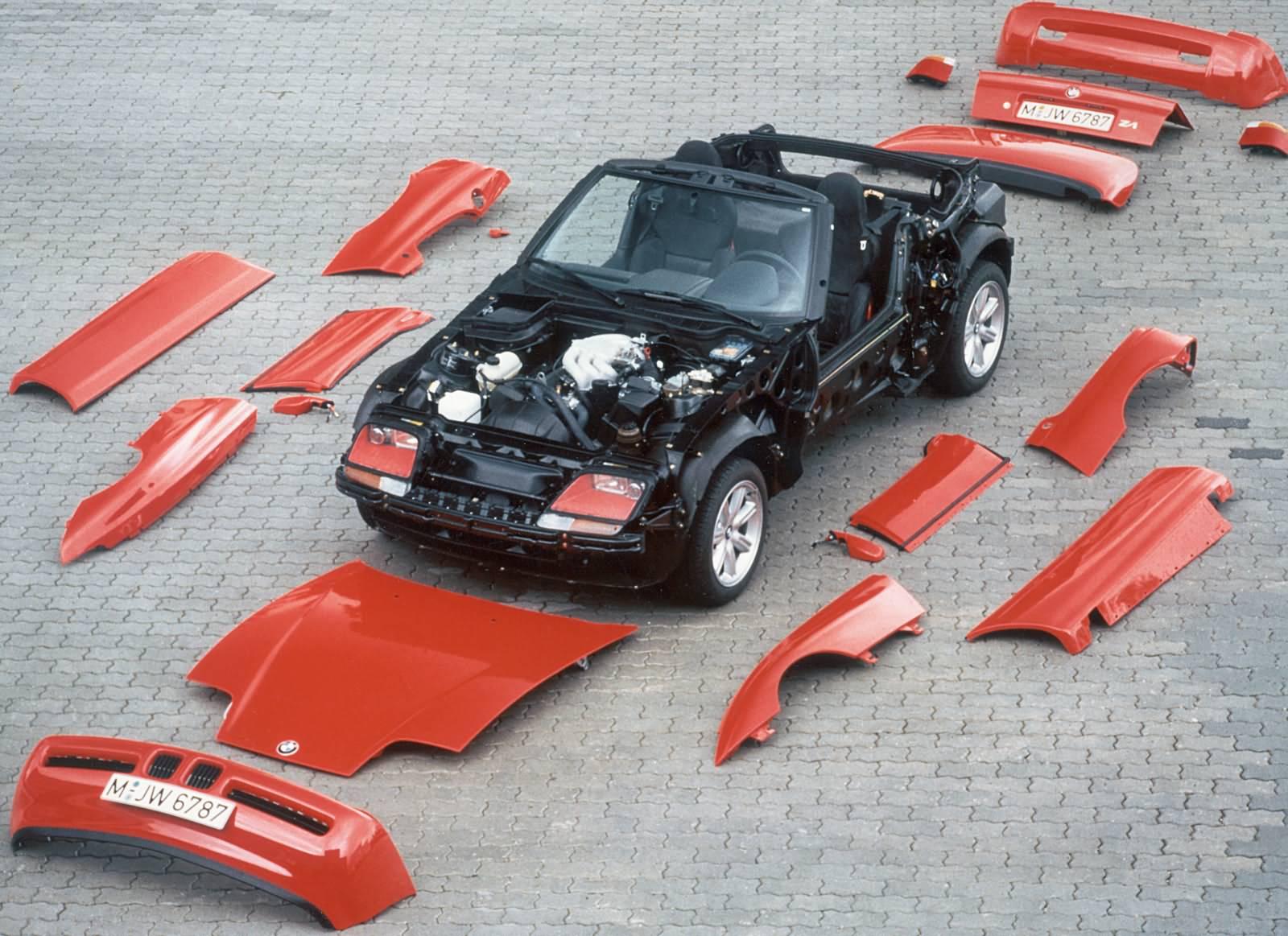1990: BMW Z1 mit Kunstoffhaut