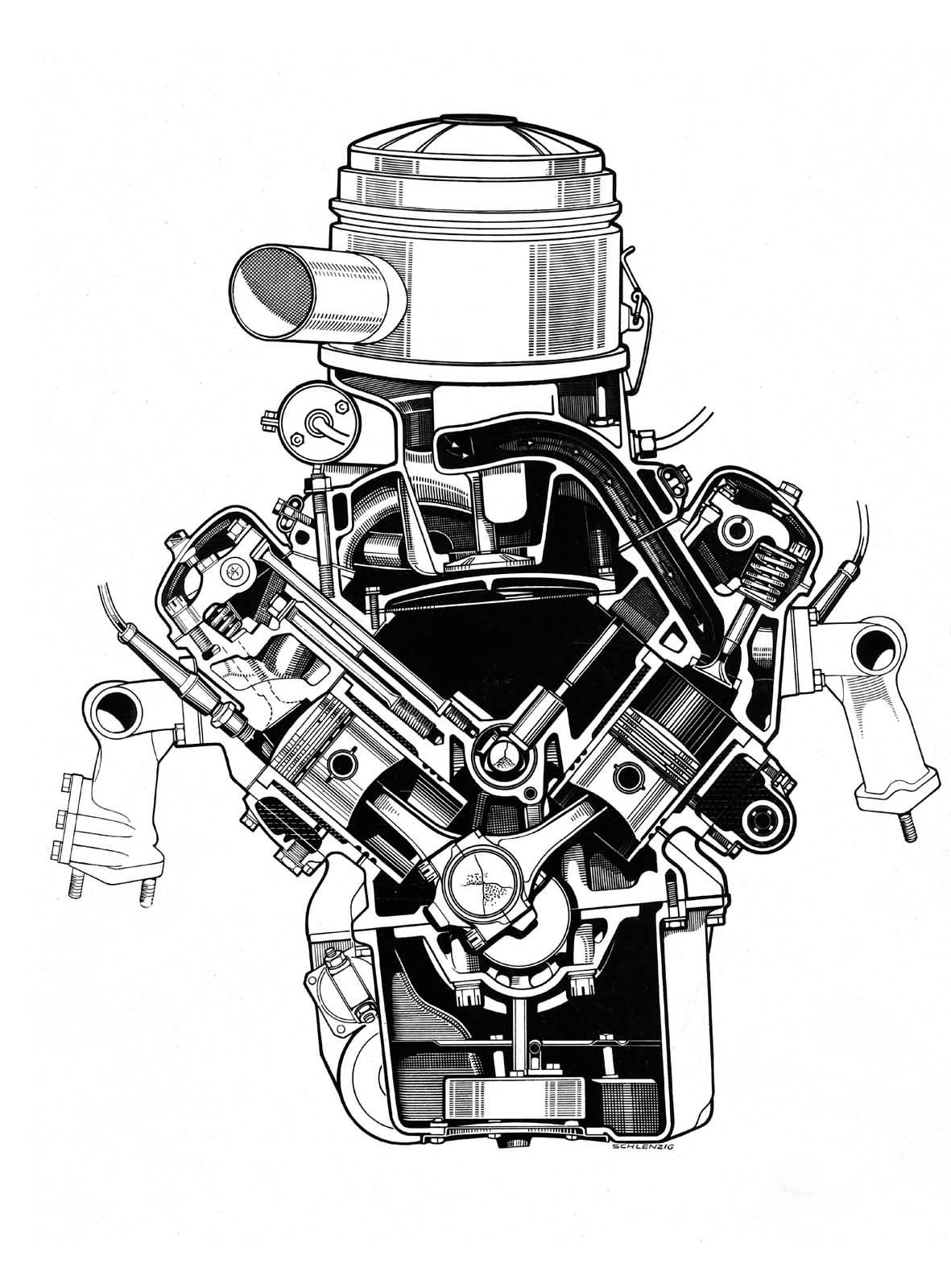1954: Der erste V8 Motor mit Vollaluminiumblock