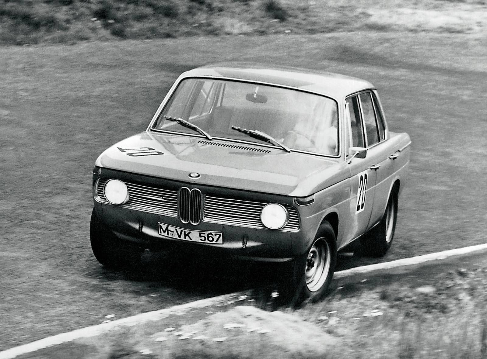 Hubert Hahne im BMW 1800 Ti 1964