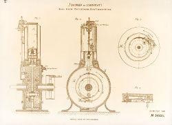 Einzylindermotor Standuhr