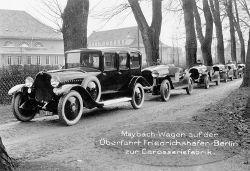 Maybachs Überführungsfahrzeuge