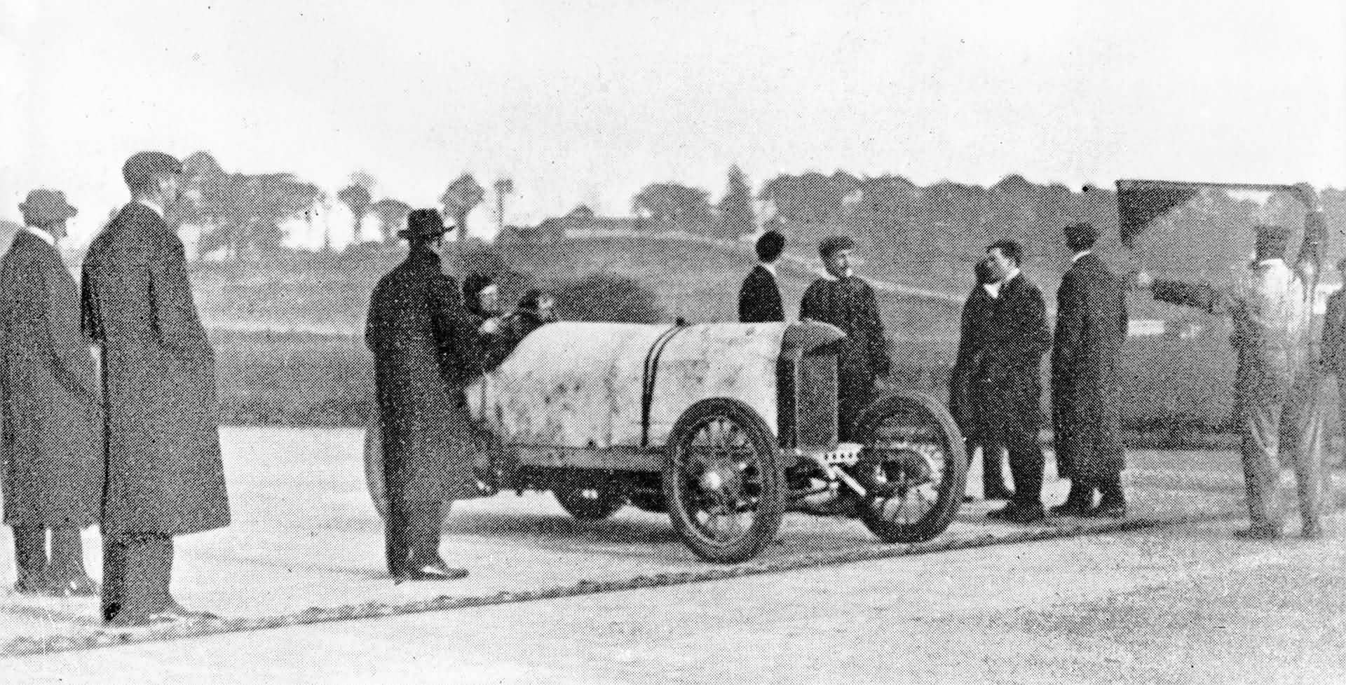 Blitzen-Benz Rekordfahrt in Brooklands/England