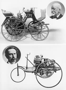 Motorkutsche und Patent Motorwagen