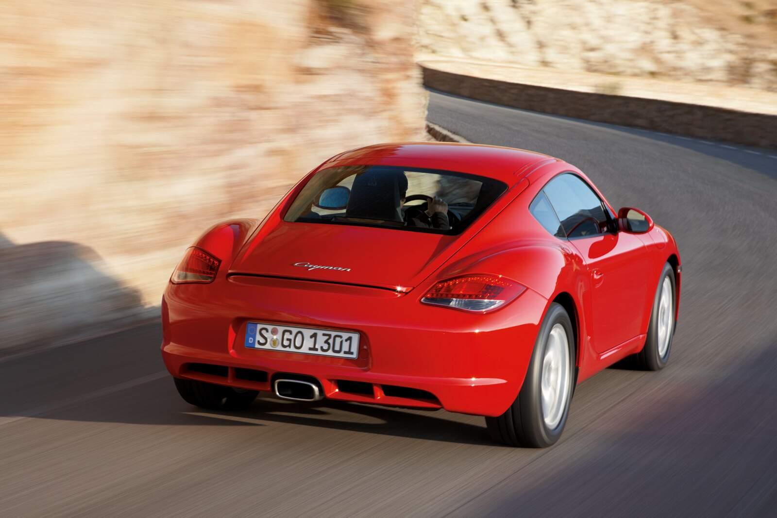 Porsche Cayman Heckansicht