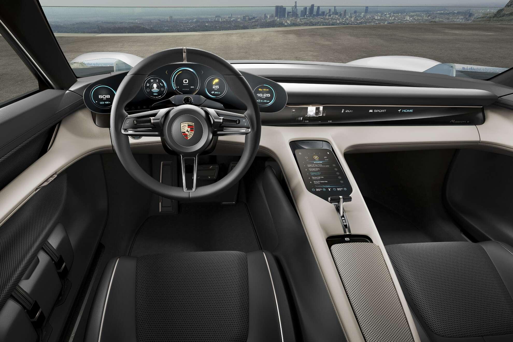 Porsche Mission E Interieur Cockpit