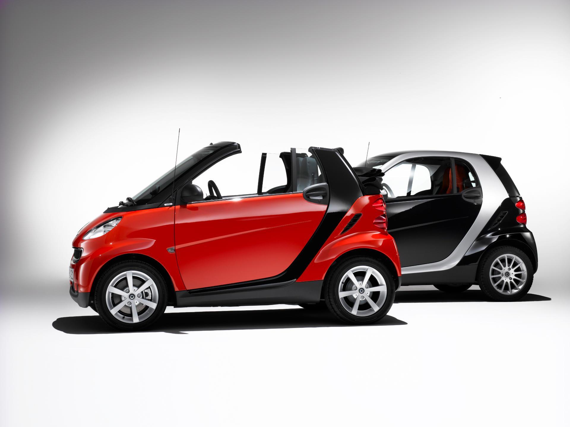 smart fortwo cabrio pulse und smart fortwo coupe passion