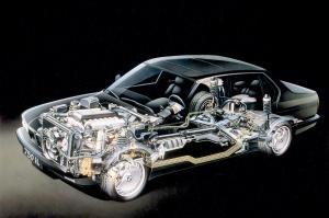 BMW-7-E32-technische-Zeichnung